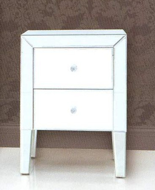 EMERALD 2 DRAWER BEDSIDE (EMERBST)