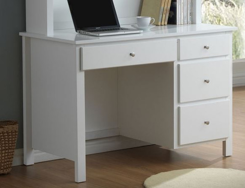 EMPRESS HARDWOOD & VENEER DESK WITH 4 DRAWERS (2-18-15-4-9-5) - 1200(W) X 480(D) - WHITE