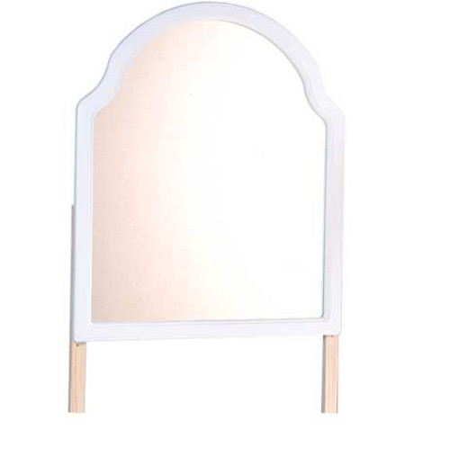 QUEEN ANN (QAMIR) MIRROR - 1000(H) x 850(W)  - WHITE