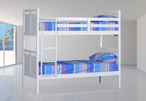 SINGLE ETHANS (MODEL 14-5-4) BUNK BED - WHITE