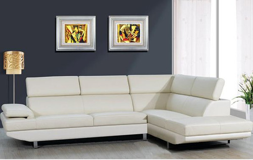 NAWAMBA (TLD‐101) 3 SEATER CHAISE COMBINATION OF GENUINE LEATHER & PVC - BLACK OR GREY