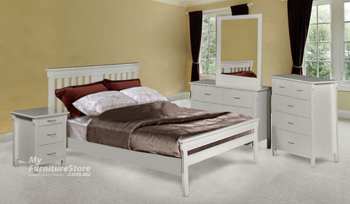 PARKVIEW (MODEL 18-15-13-1-14-25) DOUBLE OR QUEEN  6 PIECE - THE LOT BEDROOM SUITE  - WHITE