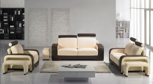 DERIVA (F6007) 1 SEATER + 1 SEATER + 3 SEATER BONDED LEATHER + PVC LOUNGE SUITE - ASSORTED COLOURS  AND CHOICE OF  LEATHER