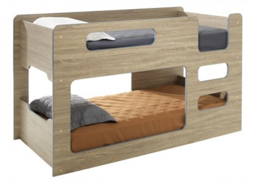 Single Over Single Domino Lowline Cabin Style Bunk Bed
