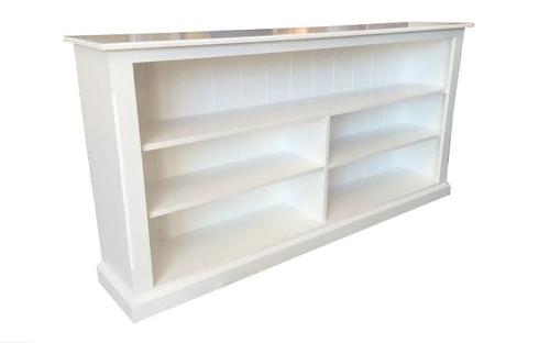 MUDGEE LOWLINE BOOKCASE (3 X 5) - 900(H) X 1500(W) - WHITE , ANTIQUE WHITE OR WHITEWASH