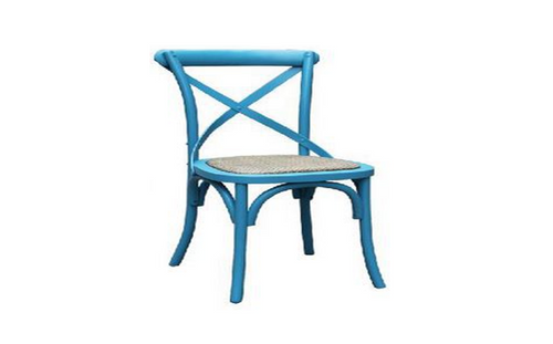 BARISTA (VBR-011) DINING CHAIR WITH RATTAN SEAT - BLUE