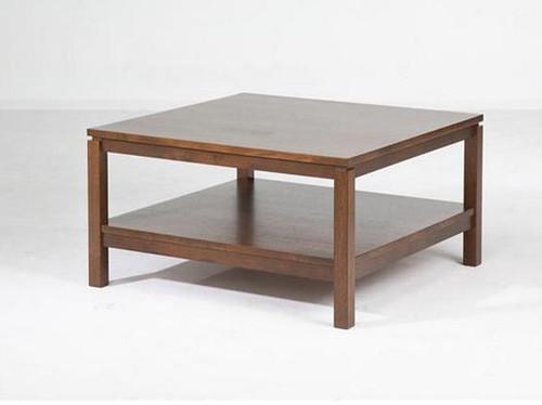 CUBIST (VCT-015) COFFEE TABLE -  430(H) X 800(W) X 800(D) -   LIGHT HONEY