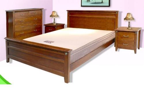 CHELSEA  QUEEN 3 PIECE  BEDSIDES BEDROOM SUITE  - TASIE OAK