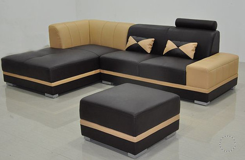 HARLEY (MODEL-F3010E)  LEATHERETTE  CHAISE LOUNGE SUITE  - CHOICE OF LEATHER AND ASSORTED COLOURS AVAILABLE