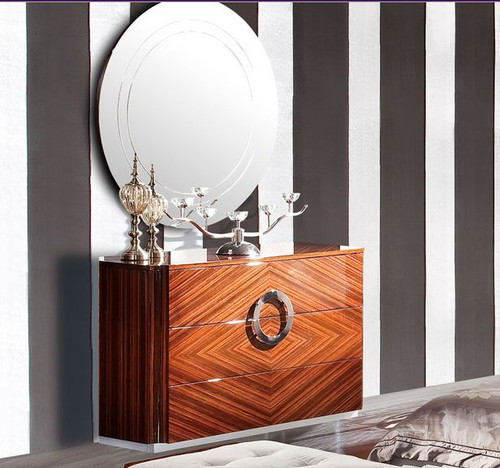 JUPITER DRESSING TABLE WITH MIRROR   - 750(H) X 1200(W) -  PU / HI GLOSS MDF