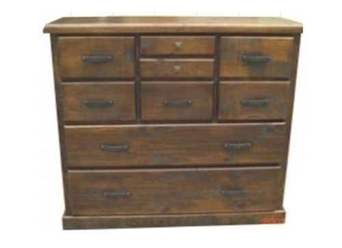 COBAR (COB4449) 9 DRAWERS CHEST -1210(H) X 1310(W)- ROUGH SAWED