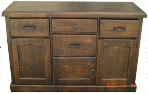 COBAR (COBBF)  2 DOORS 5 DRAWERS BUFFET -  845(H) X 1640(W) -ROUGH SAWED