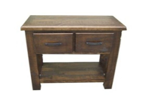COBAR (COBHT-1)  2 DRAWERS HALL TABLE -  850(H) X 900(W) X 450(D) - ROUGH SAWED