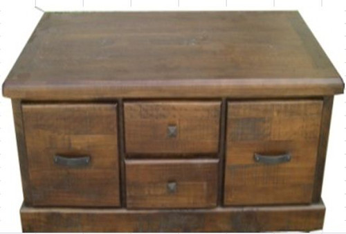 COBAR (COBCT) 4 DRAWER COFFEE TABLE -  1300(W) X 650(D) - ROUGH SAWED