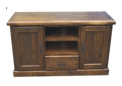 COBAR (COBTV-4)  2 DOOR 1 DRAWER TV ENTERTAINMENT UNIT - 1560(W) -  ROUGH SAWED