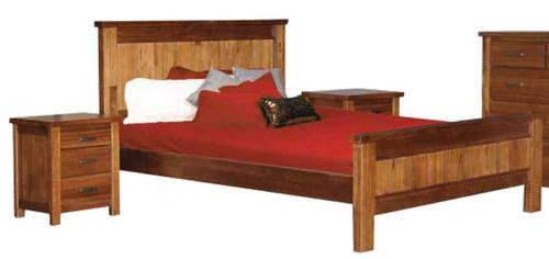 KING MONTANA (3043) FULL PANEL 3 PIECE BEDSIDE  BEDROOM SUITE - MOUNTAIN GUM