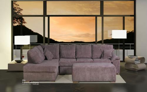 ROSEHILL 2.5 SEATER WITH DOUBLE SOFABED + CHAISE REVERSIBLE + OTTOMAN - CHOICE OF COLOURS