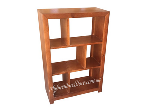 DERBY LOWLINE BOOKCASE / STAGGERED ROOM DIVIDER 3 x 2 (NO BACK) - 900(H) X 600(W) - ASSORTED COLOURS AVAILABLE