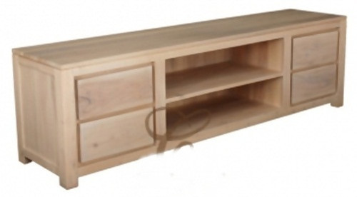 ARMSTERDAM (SB 004 TA 200)  4 DRAWER ENTERTAINMENT UNIT - 2000(W) - WASHED