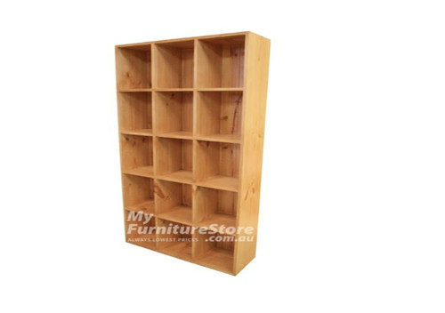 CUBE BOOKCASE 5 BOX HIGH X 3 BOX WIDE WITH T&G BACK - 1800(H) X 960(W)  - ASSORTED COLOURS