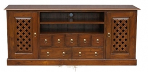 YORK 2 DOOR 7 DRAWER ENTERTAINMENT UNIT (SB 207 CV) - `1870(W) -  ASSORTED COLOURS