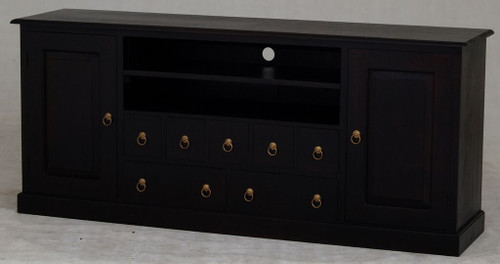 TASMANIA  2 DOOR 7 DRAWER ENTERTAINMENT UNIT (SB 207 PN) -  1870(W)  - CHOCOLATE