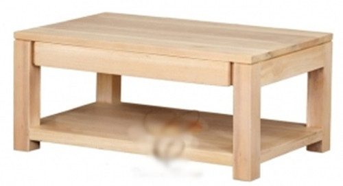 AMSTERDAM  2 DRAWER COFFEE TABLE (CT 002 TA) - 400(H) X 900(W) X 600(D) -WASHED