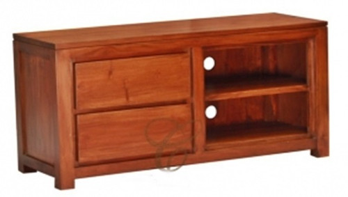 AMSTERDAM ( SB 002 TA )  2 DRAWER ENTERTAINMENT UNIT -   -1200(W) - MAHOGANY  OR LIGHT PECAN