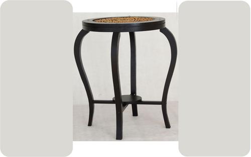 ORNAMENT BAR TABLE  - 1000(H) * 700(D) - CHOCOLATE