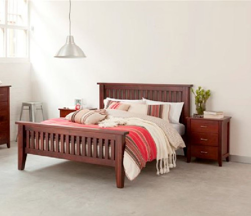 DOUBLE  DAKOTA   BED  ( MODEL - 4-5-22-15-14-16-15-18-19) - CHESTNUT OR WALNUT