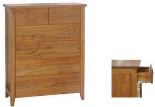 DAKOTA   6  DRAWER TALLBOY  ( MODEL - 4-5-22-15-14-16-15-18-19) - 1100(H)X900(W)-CHESTNUT OR WALNUT