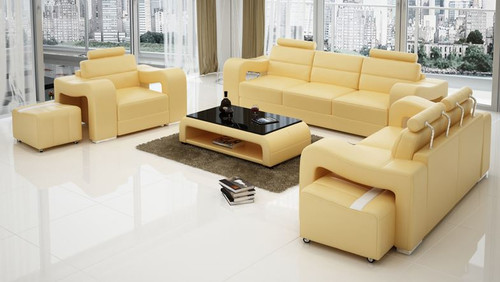 BENSALEM 3S + 1S + 1S  LEATHERETTE   LOUNGE SUITE (MODEL-F3008D)  - ASSORTED COLOURS