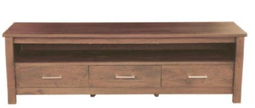 MADISON   3  DRAWERS TV UNIT - (MODEL-WOMD-013-M) -  2000(W)  - CHARCOAL.