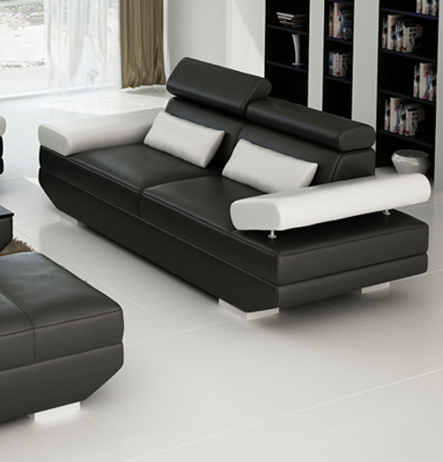 GORICA 3 SEATER SOFA  (MODEL - K5009E) - CHOICE OF LEATHER AND ASSORTED COLOURS AVAILABLE