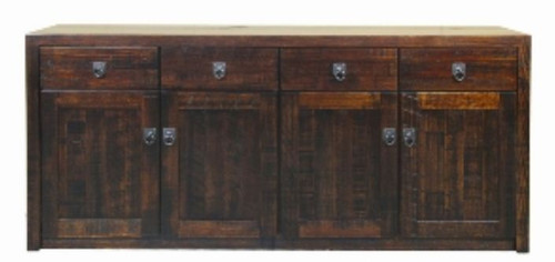 ASIDA   4 DOOR 4 DRAWER BUFFET (MODEL - 2-21-3-15-12-9-3 4) -890(H) X 2000(W)  - RUSTIC
