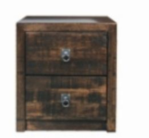 ASIDA 2 DRAWER BEDSIDE (MODEL - 2-21-3-15-12-9-3)  - RUSTIC