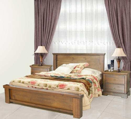 DONSILIA  KING 3 PIECE  BEDSIDE BEDROOM SUITE  ( MODEL- 11-1-11-1-4-21 ) - RUSTIC
