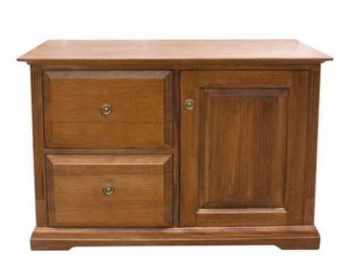 CHURACHS  2 DRAWER & STORAGE FILING   -  ( MODEL -1-19-8-20-15-14) - AVAILABLE IN COTTAGE TEAK  OR  ALMOND