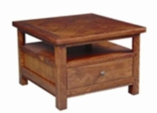 DUOLYN  AMERICAN OAK  LAMP TABLE WITH DRAWER   (MODEL16-1-18-1-13-15-21-914-20) AS PICTURED