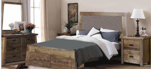 TARTIS QUEEN 4 PIECE TALLBOY  BEDROOM SUITE)  - (MODEL-19-25-12-22-1-14)