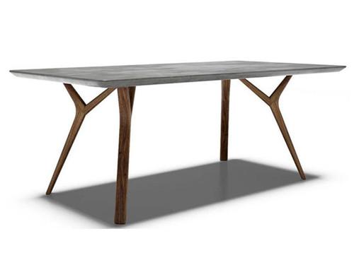 DANE CONSOLE TABLE  - 1400(H) X 1400(W) X 760(D) - CEMENT WITH OAK