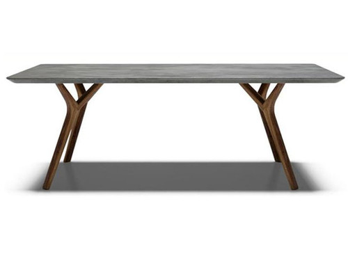 DANE DINING TABLE  - 2000(L) X 1000(W) - CEMENT WITH OAK