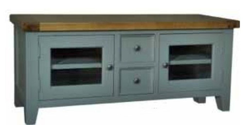 FRENCH   TV ENTERTAINMENT UNIT - 1500(W) - FRENCH GREY/ WEATHERED OAK