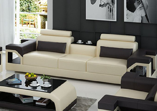 TREASURE LEATHERETTE  3 SEATER SOFA  - CHOICE OF LEATHER & ASSORTED COLOURS AVAILABLE