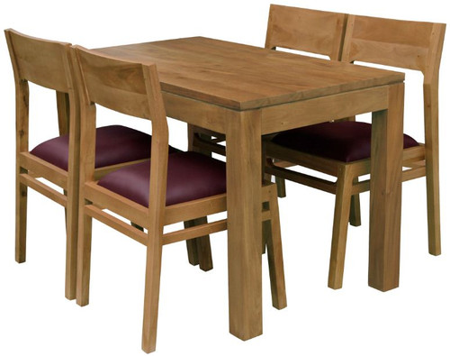 AMSTERDAM  7 PIECE  DINING SETTING - 1500(L) x 900(W) - CARAMEL OR ANTIQUE WASHED