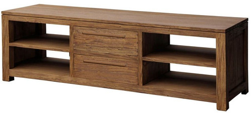 VENICE  2 MIDDLE  DRAWER ENTERTAIMENT UNIT  (SB-042-VEN) - 1600(W) - NATURAL TEAK