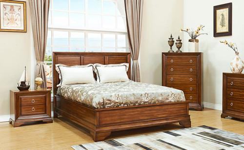 KARRIE (603)  QUEEN 3 PIECE BEDSIDE BEDROOM SUITE (MODEL 11-1-18-5-14) - CHERRY