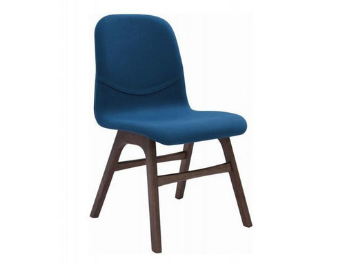 AVA  MODERN FABRIC   DINING CHAIR (SET OF 2) -  TEAL