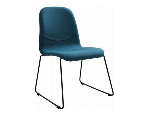 AVA  FABRIC   DINING CHAIR(SET OF 2) -  TEAL