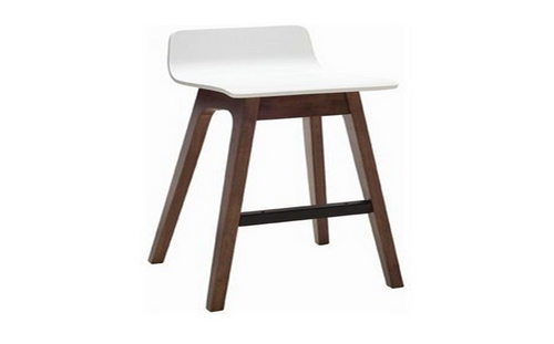 AVA  MODERN BAR STOOL - SEAT: 890(H) - WHITE / WALNUT